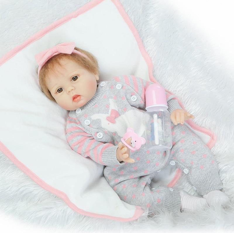 """22 """"rebron babys puppen mode schnuller puppe gefälschte baby newborn slicone wiedergeboren puppen für mädchen toys bebe meni bonecas"""