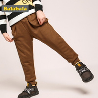 Balabala Todder Boy Pull on Joggers with Side Pocket Children Kids Pull on Sweatpants Sport Pants with Ribbed Waistband and Hem