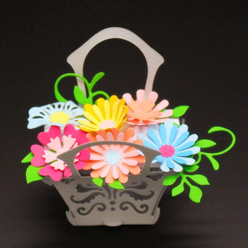 SCD1142 Flower Metal Cutting Dies For Scrapbooking Stencils DIY Album Cards Decoration Embossing Folder Craft Die Cuts Tools New in Cutting Dies from Home Garden