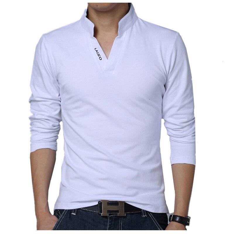 Pure Cotton Color Men's Long-sleeved POLO Shirt S M L XL 2XL 4XL 5XL White Green Grey Red Black Fashion Casual Man POLO Shirts
