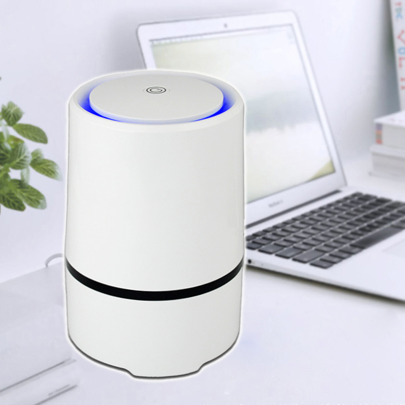 Portable Hepa Air Purifiers : Home and office desktop hepa filter air purifier portable