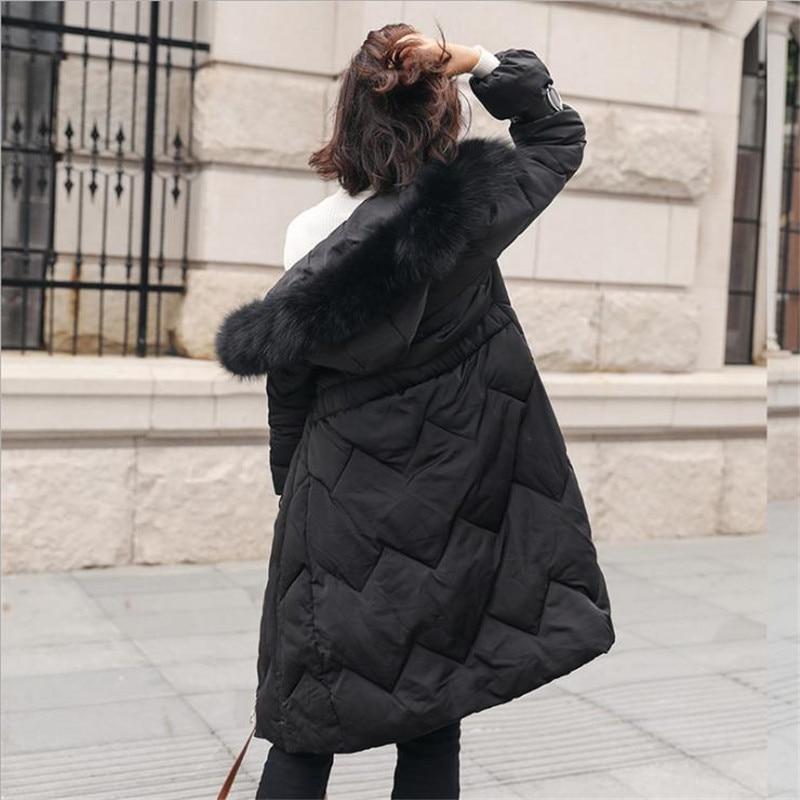 Moda Pelliccia Collo 2018 E Lungo Caldo Donne Di Casual Parka Solido Black Donna Cappotti Giacca apricot Cappuccio Grande Con Giubbotti D490 Spessore Imbottita Inverno wqY6x8YZH