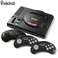 VAKIND Retro Classic Game Console HDMI AV 16 Bit 4K Video Game Player For Sega Mega Drive With 2.4G Wireless Gamepad Controller