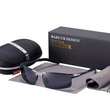 Barcur クラシックデザインアルミサングラスメンズレディース偏光反射防止サングラス男性 oculos デゾルシェード