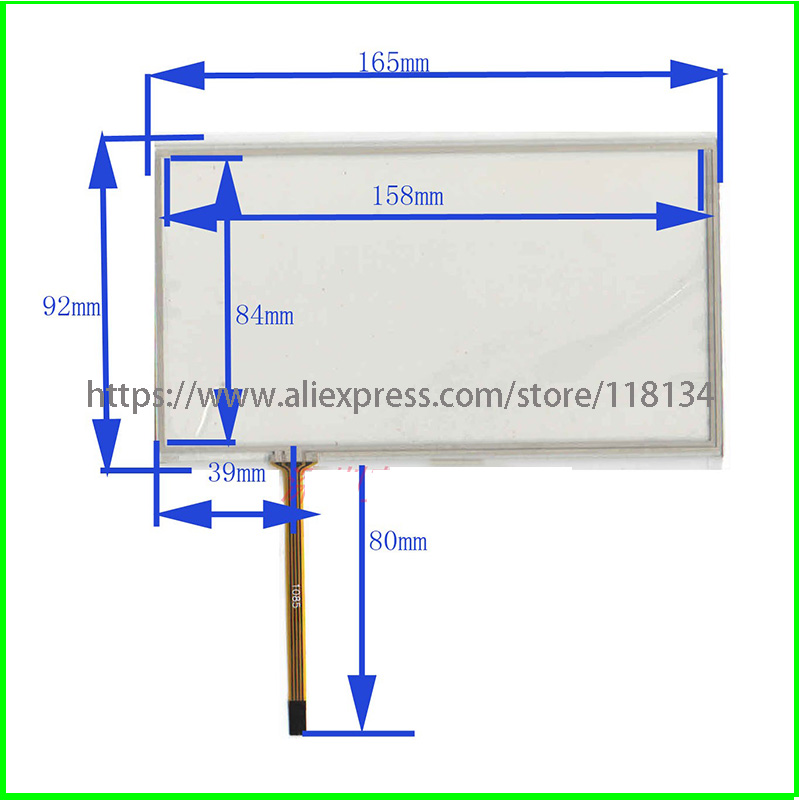 NEW FOR JVC-KW-AVX900 JVC KW AVX900  Compatible 7inch 4lines Resistance Touch Screen Panel TouchSensor  165mm*92mm
