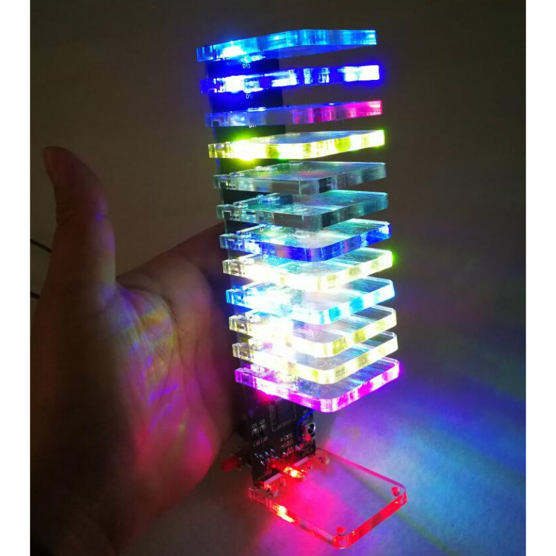 Aiyima 13 Level Led Music Audio Spectrum Indicator Crystal Column Diy Kit Vu Tower Audio Level Meter Kits Back To Search Resultsconsumer Electronics