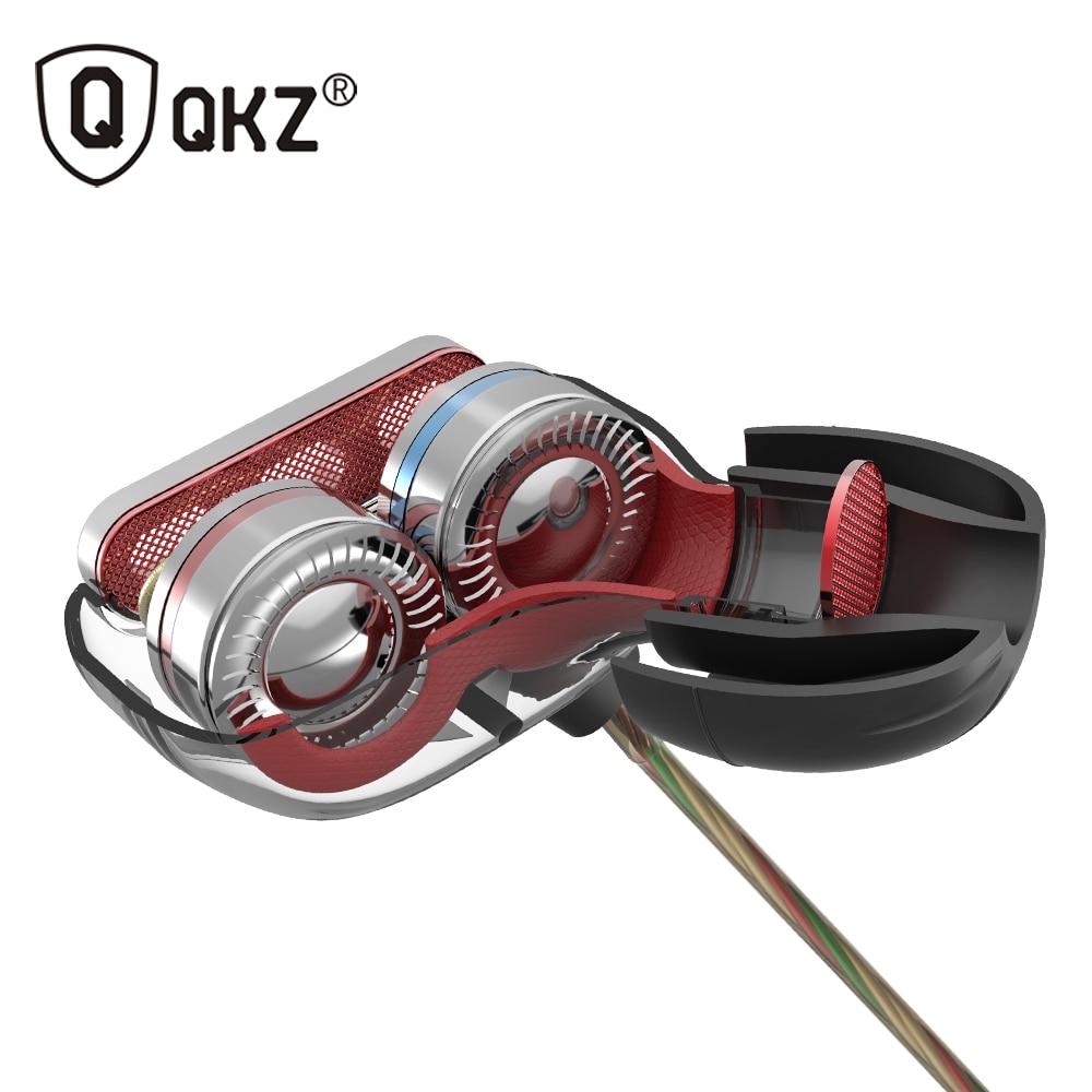 New Original QKZ KD8 Super HIFI Bass In-Ear Music Earphone With Double Dynamic Unit Driver Running Sport Earplug Headset Earbud