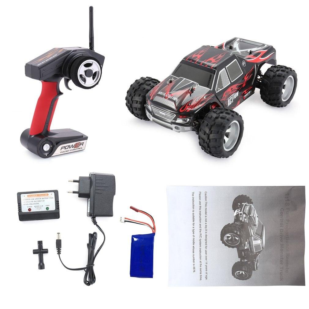 RC автомобиль Wltoys A979 1/18 2,4 ГГц 4WD Монстр Rc гоночный автомобиль дистанционного Управление автомобилей Радио-Управление led машин RTR детские игру...