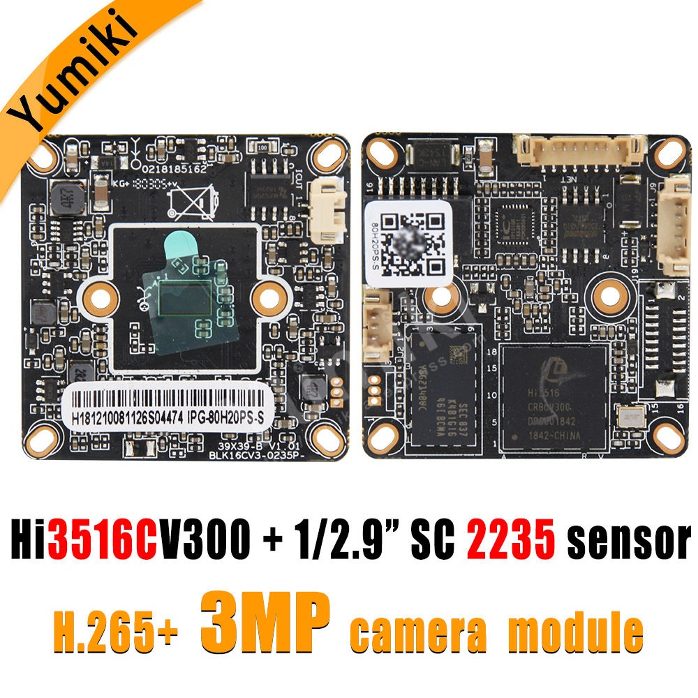 "H.265+/H.264 3MP/2MP 2048*1536Pixel Hi3516CV300+SC2235 1/2.9"" 1080P IP Camera Module Board HD low illumination ONVIF XMEYE"