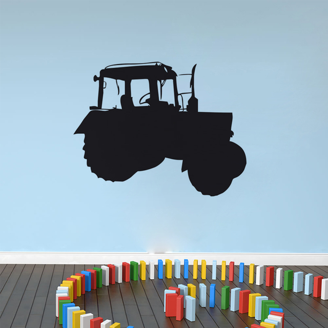 New Arrival Removable Black Cartoon Farm Tractor Wall Sticker ...