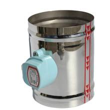 цены на HVAC stainless steel air damper valve 220V electric air duct motorized damper for 4