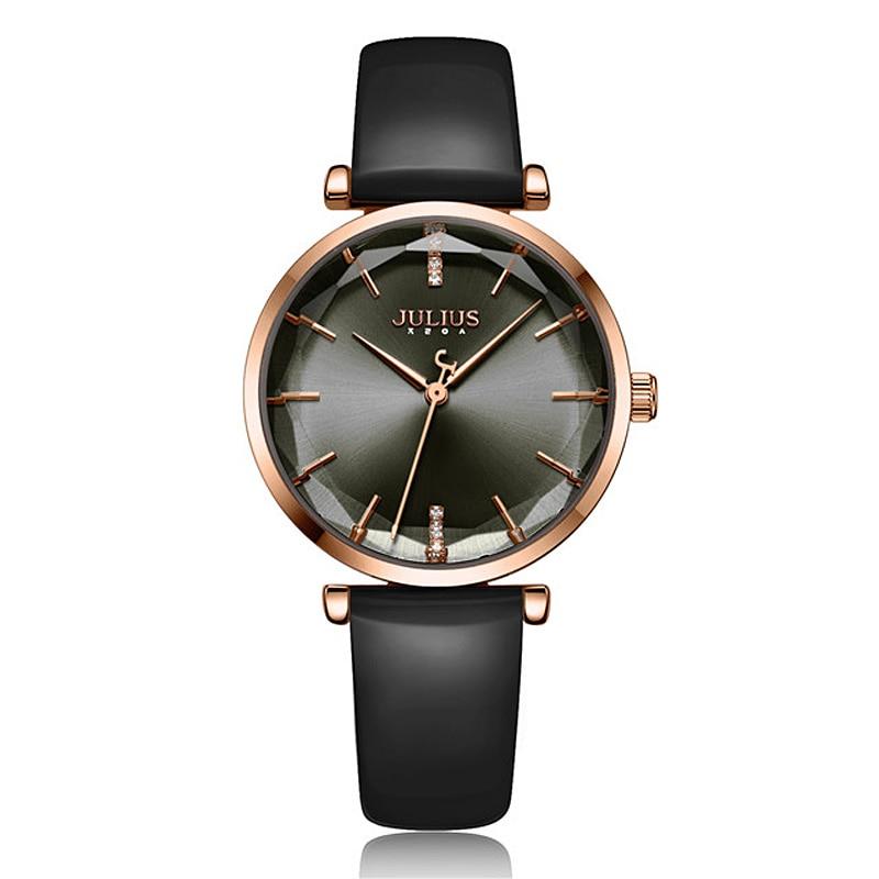 цена на New Julius Women's Watch Japan Quartz Lady Classic Hours Fashion Woman Clock Dress Bracelet Leather Girl's Birthday Gift Box