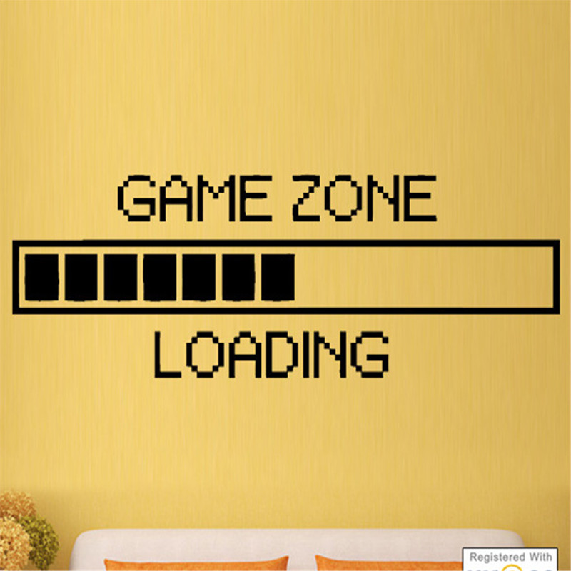 G339 Game Zone Loading PS3 PS4 XBOX Boys Bedroom Wall Art Stickers Decals Vinyl Home Game room wall sticker decoration