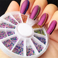 12 Color 3D Steel Ball Caviar Beads Manicure Nail Art Glitter Decora