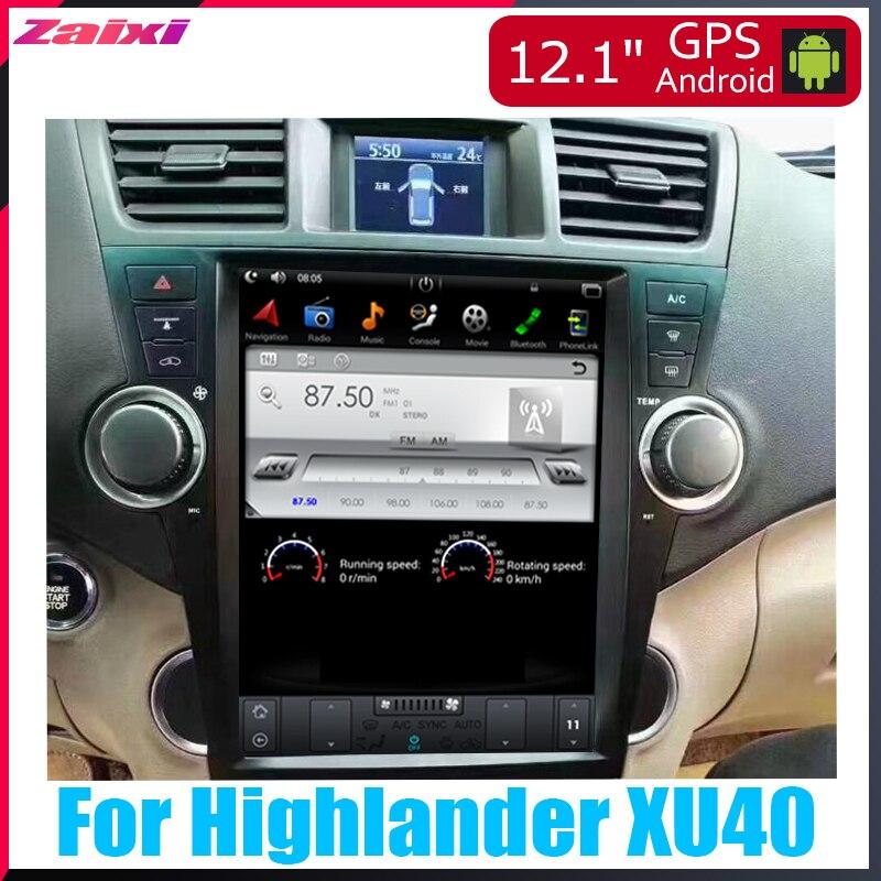 ZaiXi Android voiture multimédia GPS pour Toyota Highlander XU40 2008 ~ 2013 Radio écran vertical tesla écran Radio vidéo USB DAB +