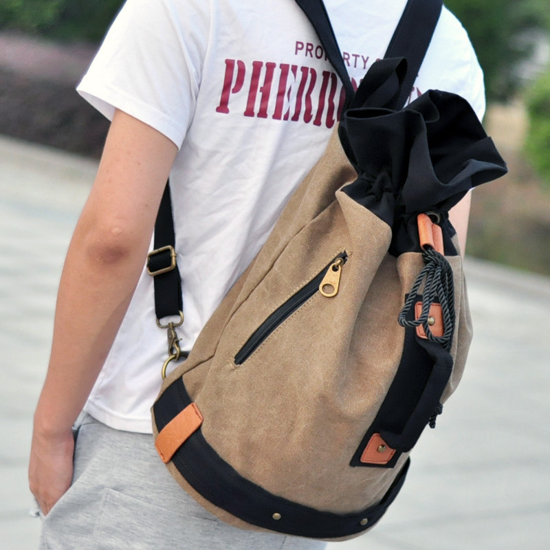 new arrival hot sale Men fashion casual backpack canvas travel Drawstring  bags|bag store|bag makerbag tnt - AliExpress
