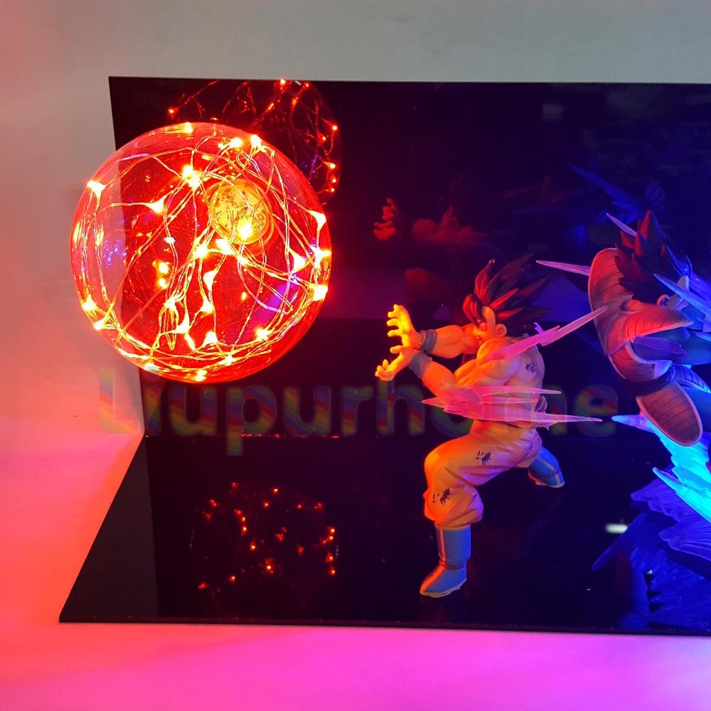 Dragon Ball Z Nightlight Vegeta Son Goku Super Saiyan