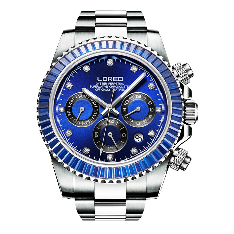 LOREO Germany watches men automatic self-wind Austrian diamond oyster perpetual cosmograph daytona relogio masculino 116508LOREO Germany watches men automatic self-wind Austrian diamond oyster perpetual cosmograph daytona relogio masculino 116508