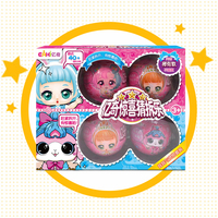 4PCS/SET eaki DIY Kids Toy for lols Dolls with Original Box Random doll ball Puzzle Toys for Children birthday gifts