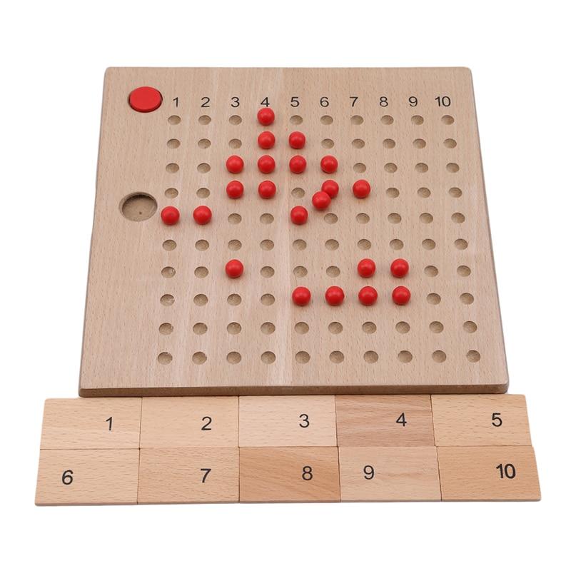 Children Math Toy Set Addition Subtraction Multiplication Division Board Kids Wooden Montessori Mathematics Teaching Material