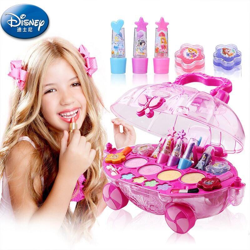 Disney magnifique princesse maquillage mobile cadeau boîte filles jouer jouets pour enfants spectacle cosmétiques ensemble beauté et mode jouet