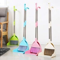 Household plastic broom dustpan combination packages broom dustpan soft bristle broom dustpan living room bedroom kitchen 3