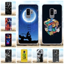 For Samsung Galaxy S9 Plus Cover TPU G965F G965U G965W Case Girl Patterned Capa