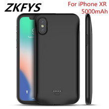 ZKFYS 5000mAh Ultra Thin Fast Charger Power Case Portable Backup Bank For iPhone XR Battery With Audio