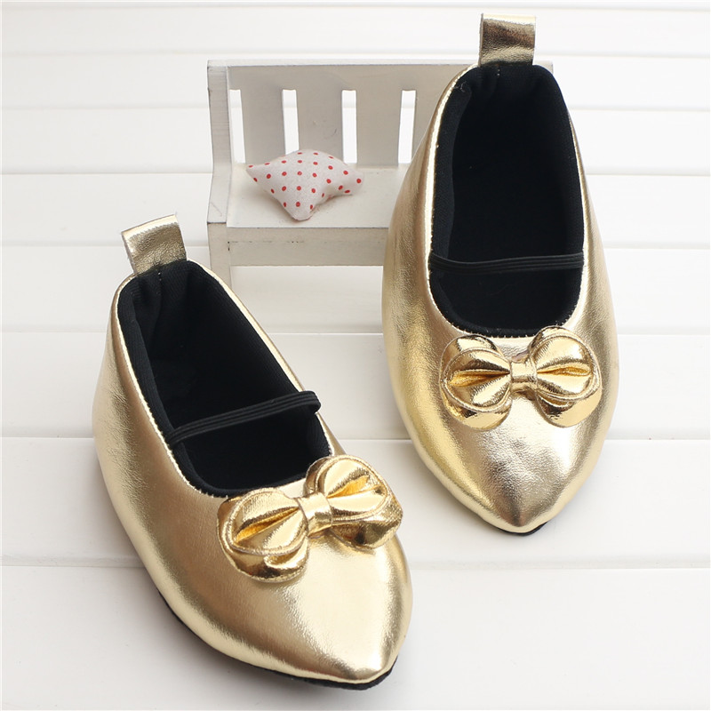 Amazing Gold Pointed Baby Girl Shoes Newborn Infant