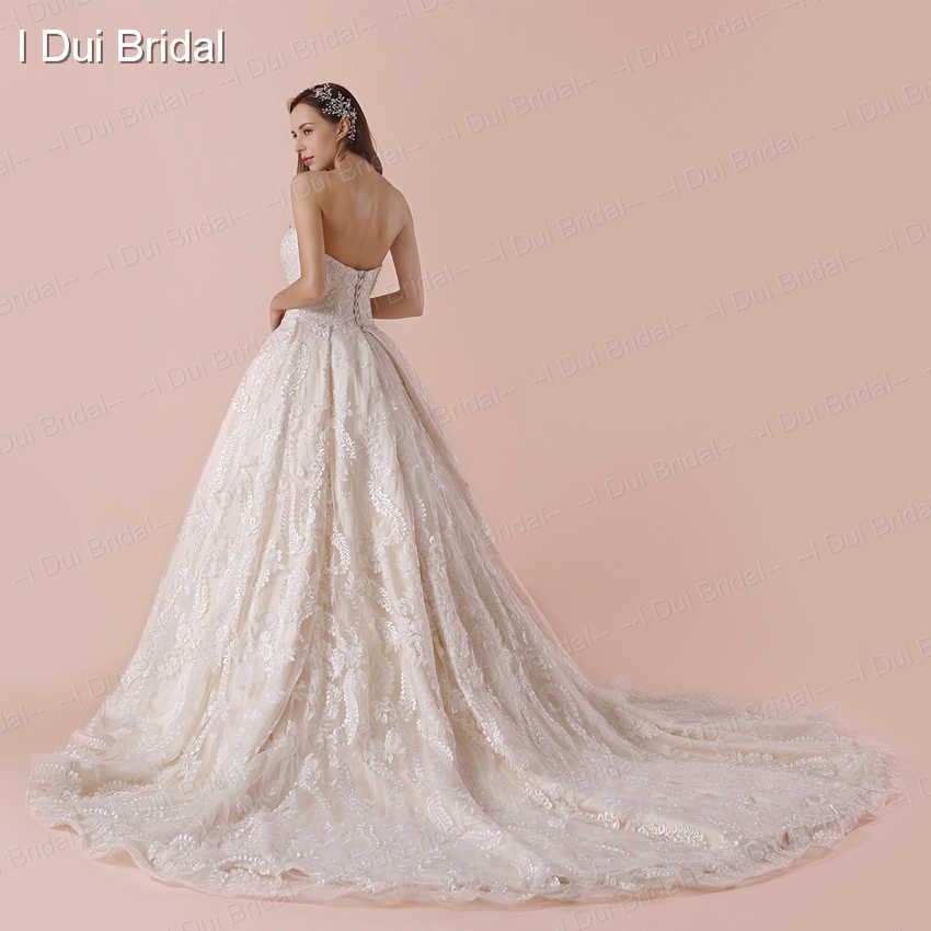 Sweetheart Ball Gown Wedding Dress Unique High Quality Lace