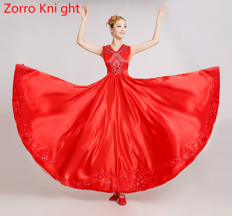 [Zorro Kni Ght] New Opening Dance Full-skirted Dress Dress Modern Dance Clothing Chorus Performance Clothing Performance Stage