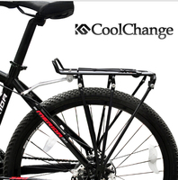 CoolChange Aluminum Alloy Disc Brake Bicycle Cargo Racks Cycling MTB Bike Carrier Rear Luggage Rack Shelf Bracket 80KG