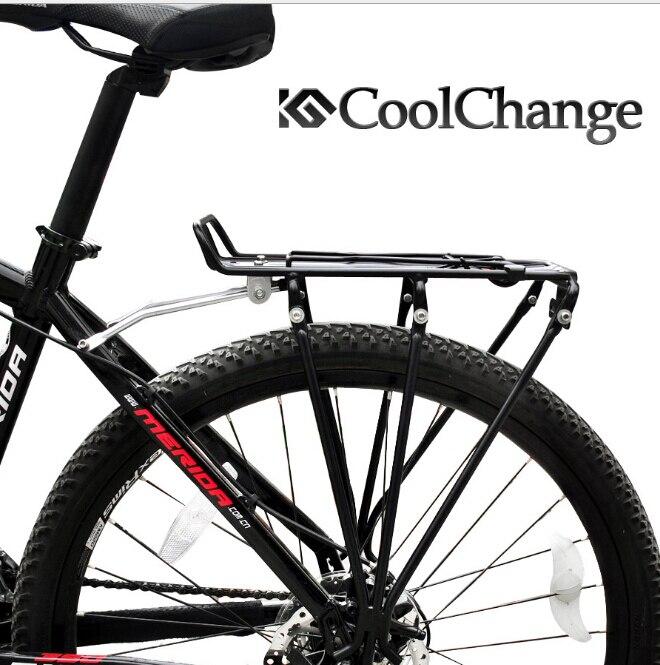 Coolchange Алюминий сплав дисковый тормоз Велосипедный Спорт брюки-карго Стойки Велоспорт MTB велосипеда сзади Чемодан полка Кронштейн 80 кг