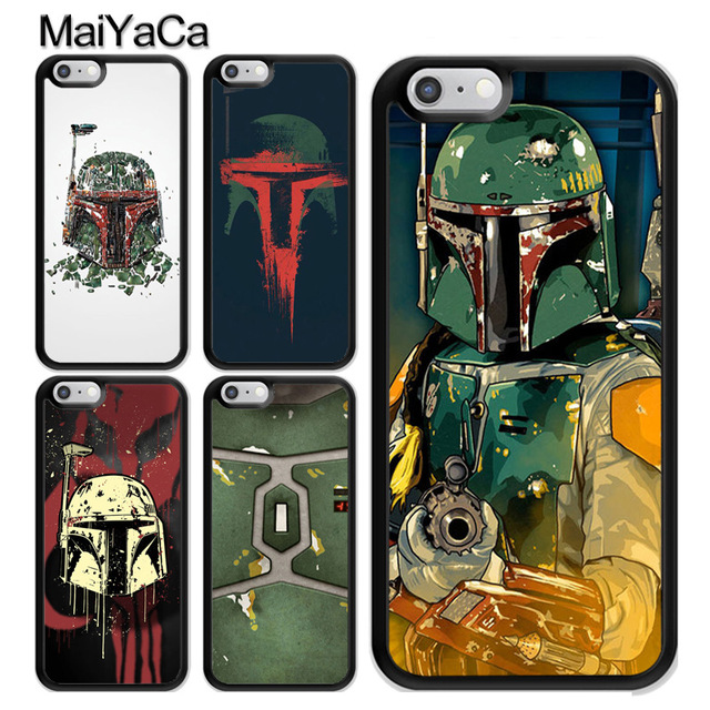 Half-wrapped Case Confident Maiyaca Boba Fett Art Novelty Fundas Phone Case Cover For Apple Iphone 5 5s Xr Se And 6s 7 8 Phone Case Phone Bags & Cases