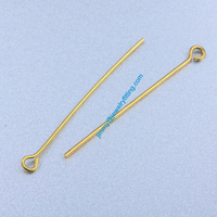 Jewelry Making findings Raw Brass Eye Pins ;Scarf Pins findings 0.7*41mm shipping free