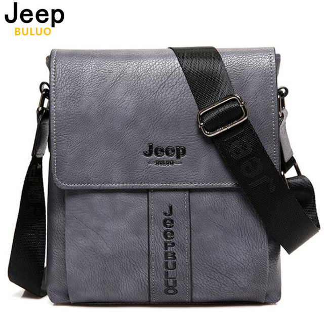 30659fc366 JEEP BULUO New Fashion Cow Split Leather Man Messenger Bags Business Male  CrossBody Bag Casual Men