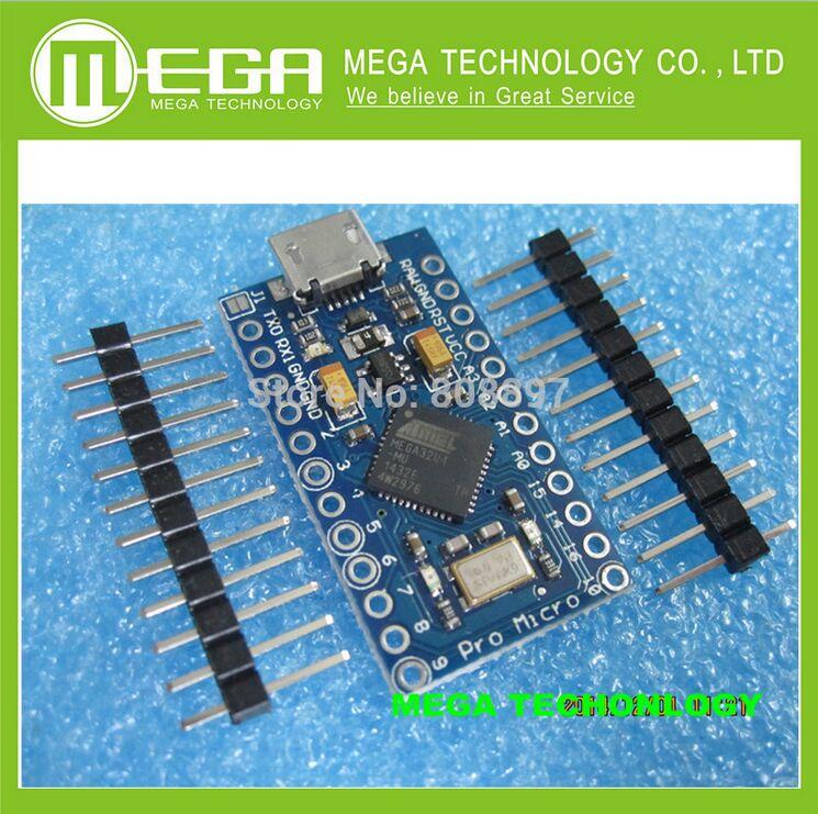 Free Shipping 20 pcs Mini Leonardo Pro Micro ATmega32U4 5V 16MHz Module For font b Arduino