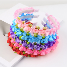 Sale 1PC Beautiful Children Flower Hair Hoop Crown Wedding Headband Headwear Girls Princess Hair Accessories amazing fashion 1pc girls kids pearl headband bow lace headband flower headwear children hair accessories
