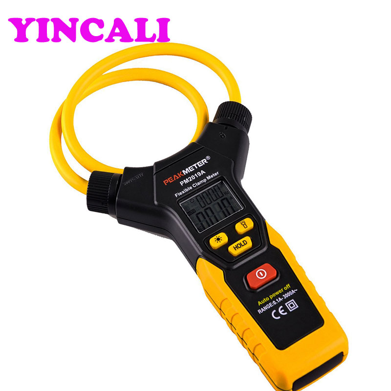 Professional Clamp Meter PM2019A Auto Range Multimeter 3000A Handheld Digital Flexible AC Current Frequency Detector aimo m320 pocket meter auto range handheld digital multimeter