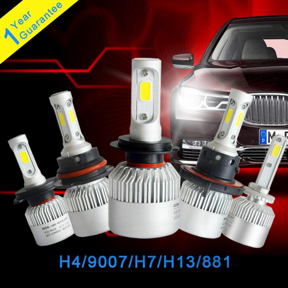 2 Adet H4 LED H7 H13 9007 881 Araba Led Far 72 W 8000LM Hi / Lo - Araba Farları - Fotoğraf 6