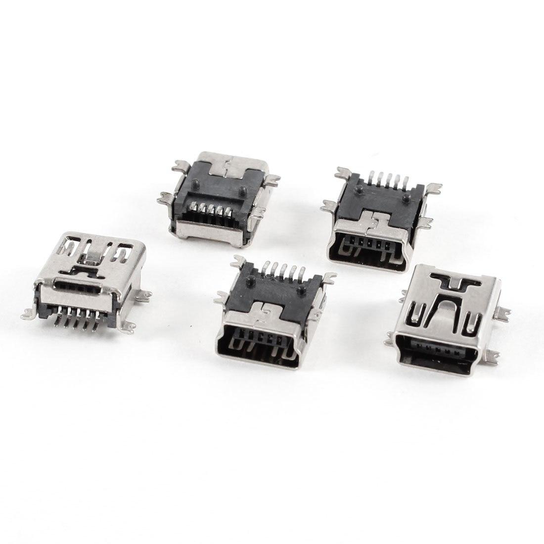 Davitu 20pcs//lot Wholesale 5Pin Mini USB Charging Jack Socket MINI 5P USB Plug for MP3 MP4 ect
