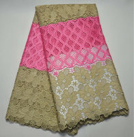 Alibaba express Supplier Nigeria Lace Fabric 2017 African Guipure Lace Fabric Bridal Lace Fabric 5Yards