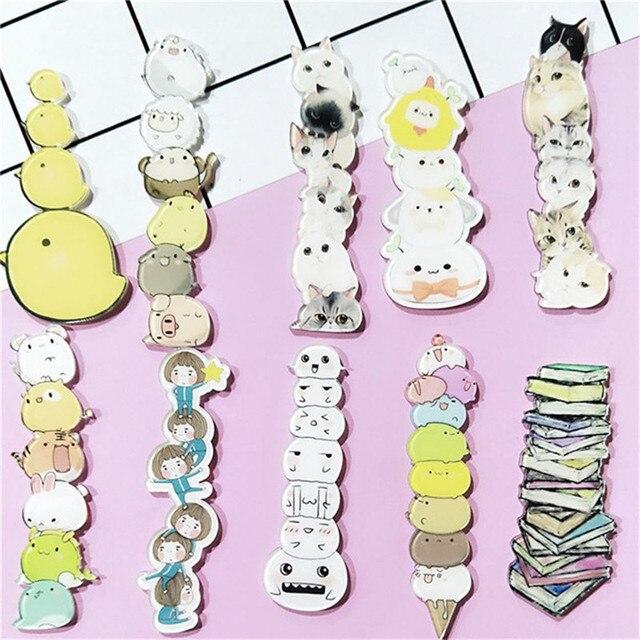 1 pz Cute Cartoon Accatastati Animale Gatto Libro Anatra Zaino Kawaii Acrilico Distintivi e Simboli Vestiti Icone Zaino Spille Spilla Distintivo decor