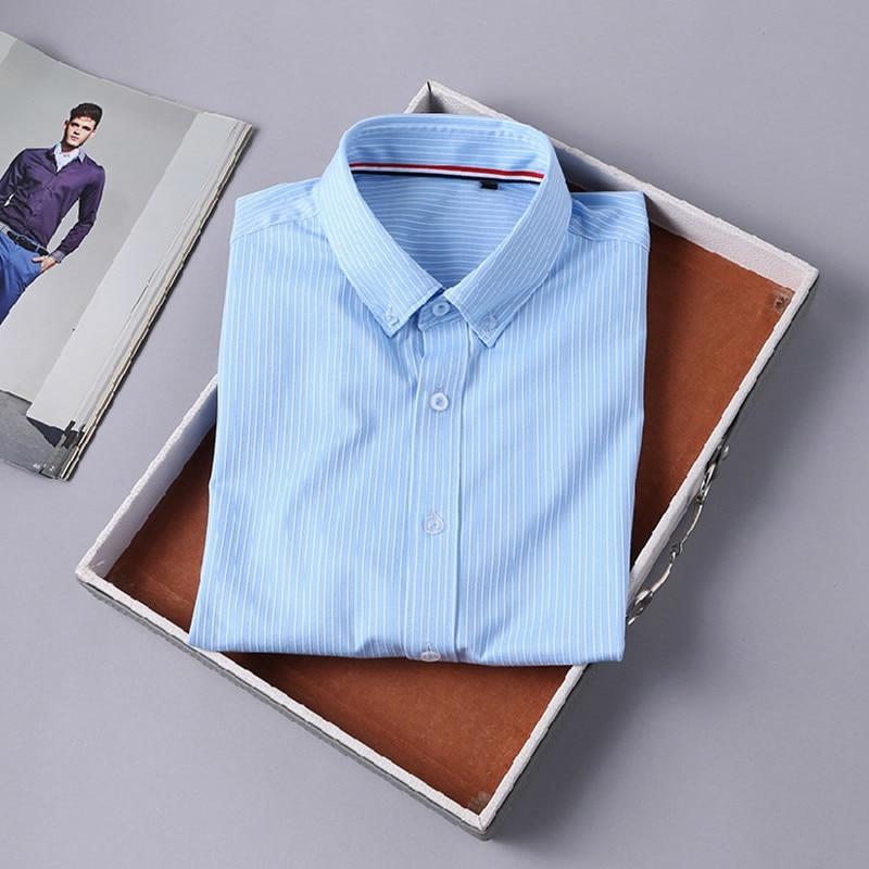 Top Quality Original Men Dress Shirts 2018 Summer Male Short Sleeve Clothes Classic Striped Men