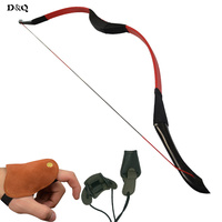 D&Q Traditional 26lbs 28lbs Recurve Wooden Bow for Archery Carbon Fiberglass Arrows Hunting Shooting Target Slingshot Longbow