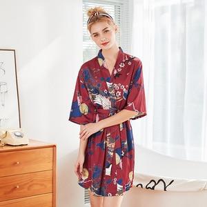 Сексуальный женский ночной халат, кимоно, Женское банное платье из искусственного шелка, летняя одежда для сна, свадебные халаты невесты, домашняя одежда, M-XXL