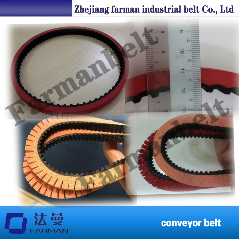 T5 Pu Timing Belt With Sponge/ Red Rubber Coating Round Timing Belt fashion red longline coat with belt