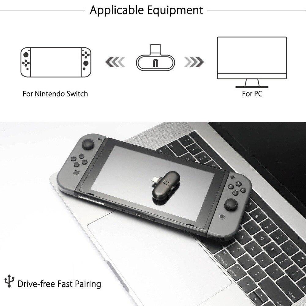 Gulikit Route + PRO sans fil CSR Bluetooth 2.1 + EDR type-c adaptateur USB émetteur-récepteur Audio pour Nintendo Switch - 2