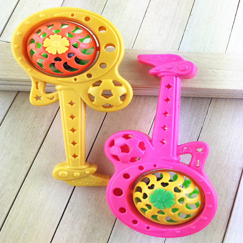 2017 New Lovely Cartoon Guitar Baby Rattle Puzzle Early Gift With Whistle Baby Toys Toys & Hobbies Baby & Toddler Toys