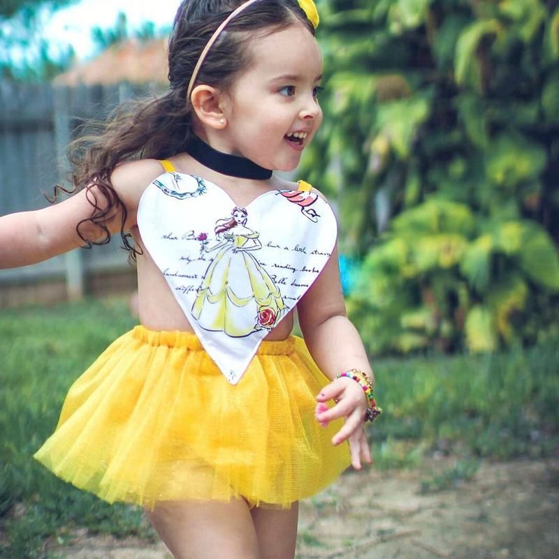Ins Hot Infant Baby Girls Lace Rompers Toddler Heart Pattern Jumpsuits Babies Princess Halter Romper 2017